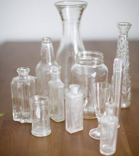 How to make faux milkglass ~ DIY