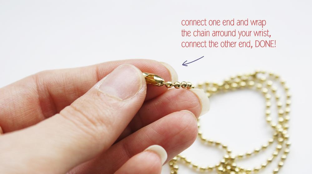 Excellent DIY // Ball chain Bracelet EW71