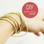 DIY: Ball chain Bracelet