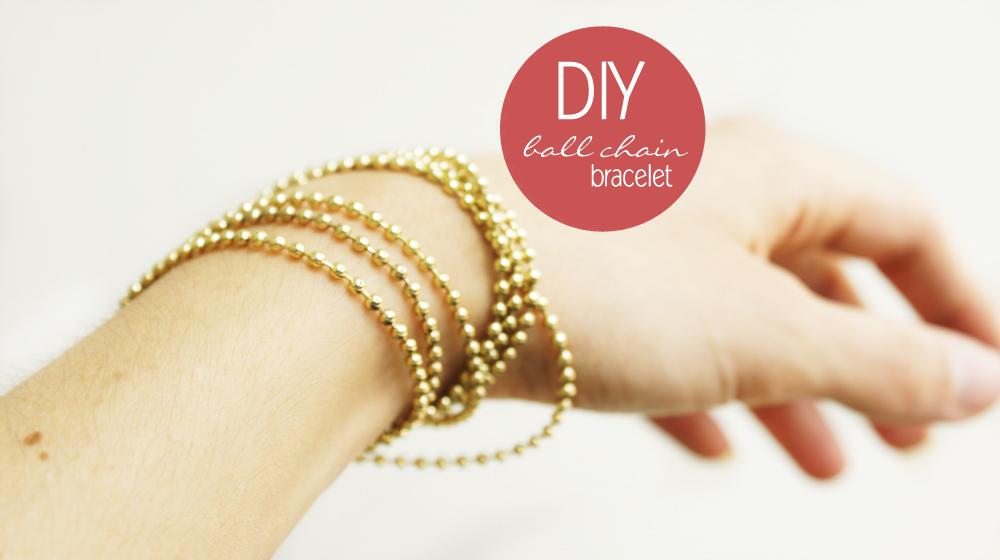 Diy Ball Chain Bracelet