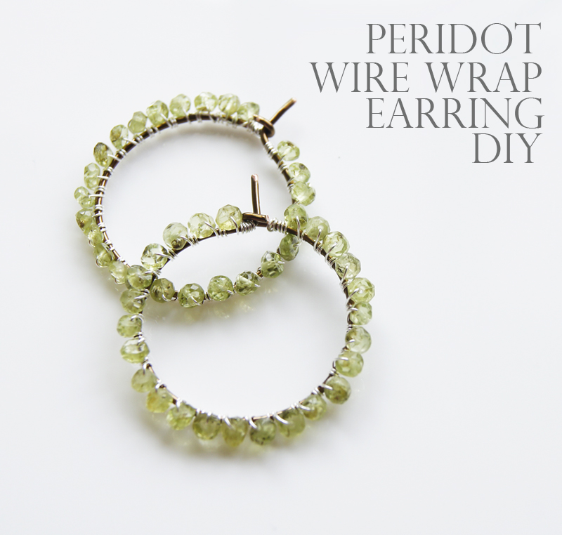 Diy wire earring holder