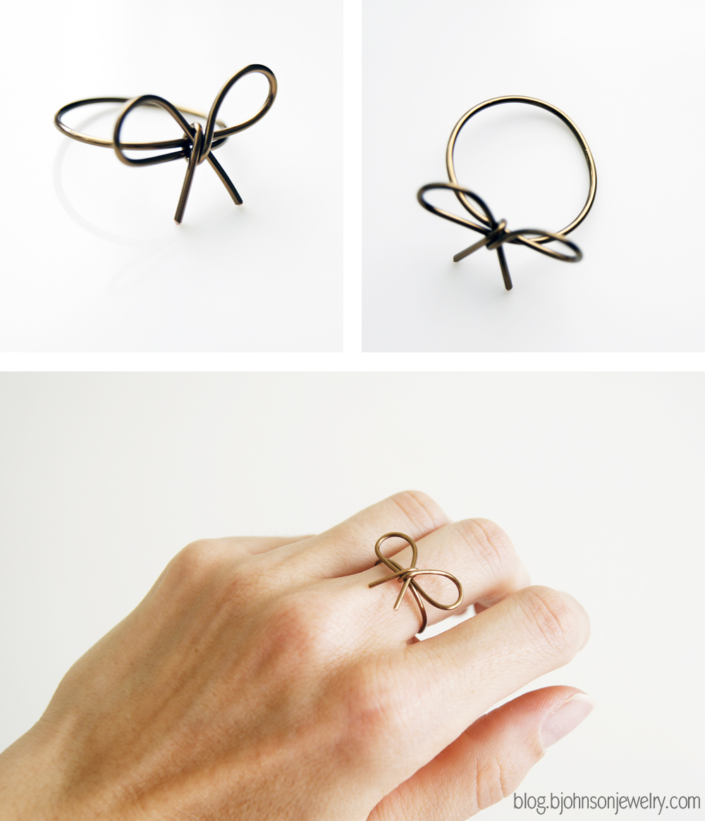 DIY // Wire Wrapped Bow Ring