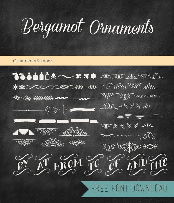 Free Font Friday - Bergamot Ornaments