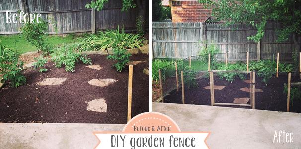 diy how to make a garden fence. Black Bedroom Furniture Sets. Home Design Ideas