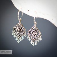 Sterling Silver Aquamarine Chandelier Earring