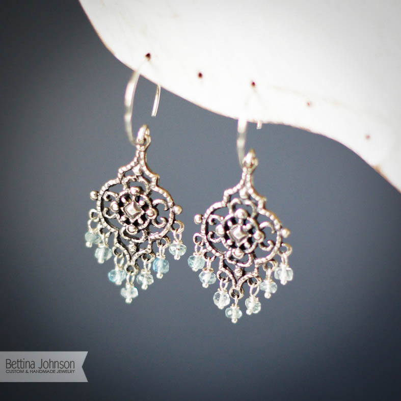 Silver Aquamarine Chandelier Earring – Chandelier Earring