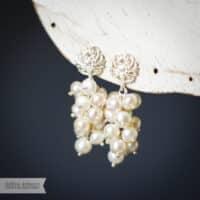 Sterling Silver Freshwater Pearl Cascade Earring