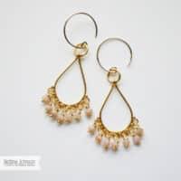 Pink Opal Vermeil Chandelier Drop Earring
