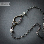 Oxidized Sterling Silver Labradorite and Moonstone Necklace