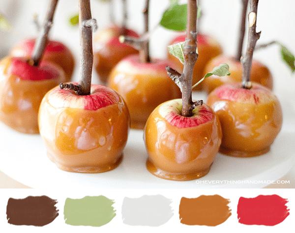 Color Palette Caramel Apple