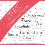 Free Font Friday // more Holiday fonts