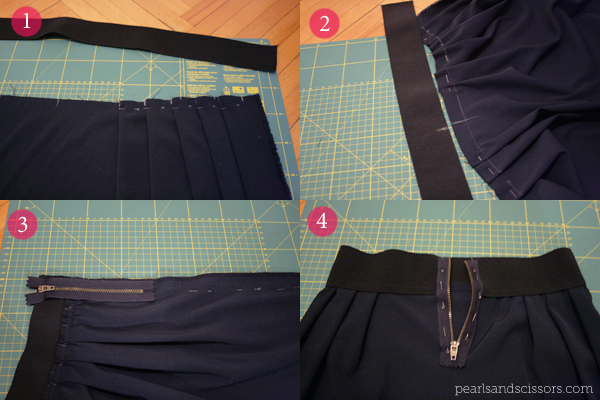 pleated skirt tutorial