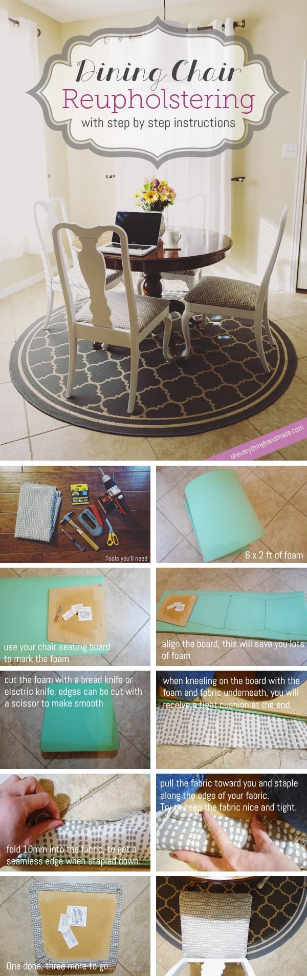 DIY Dining Chair Reupholstering