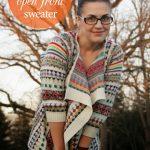 DIY // Trendy open front sweater