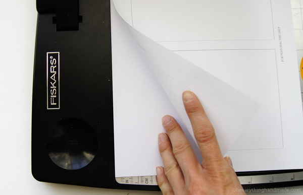 Step 4 - Cut out your inside paper