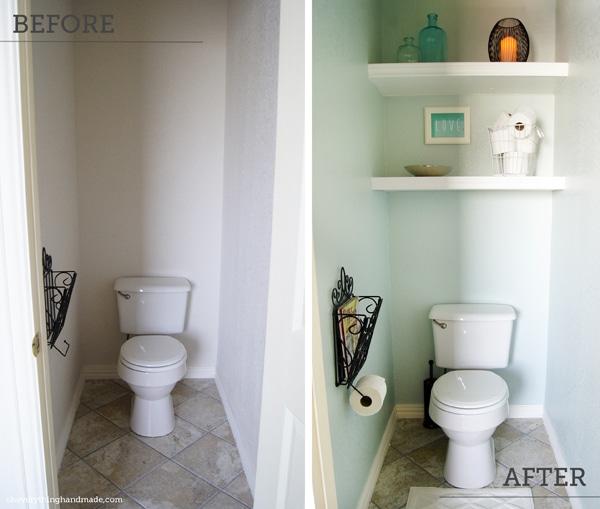 Diy Floating Shelves For Bathroom: DIY // Bathroom Makeover Floating Shelves