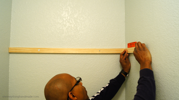 attaching the boards to the wall