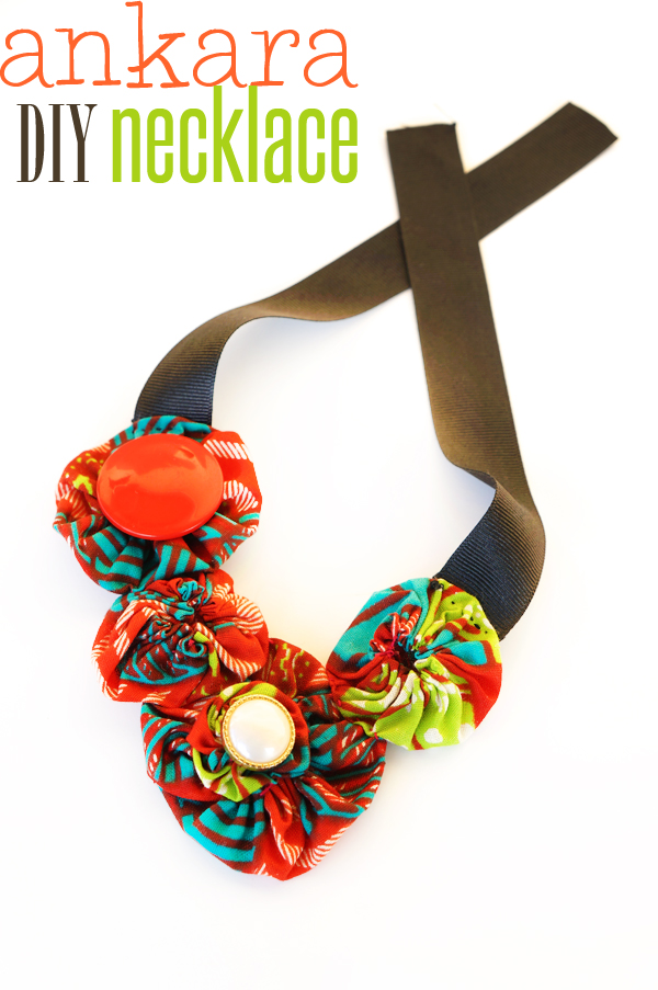 Fabric Necklace DIY by OYINDOUBARA (ankara necklace)