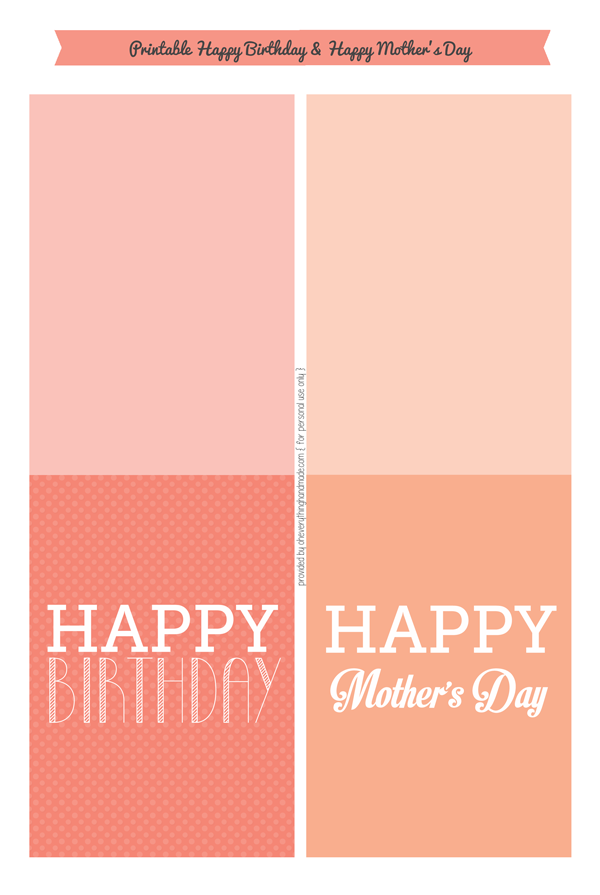 Happy B-day and Happy Mother's Day Card