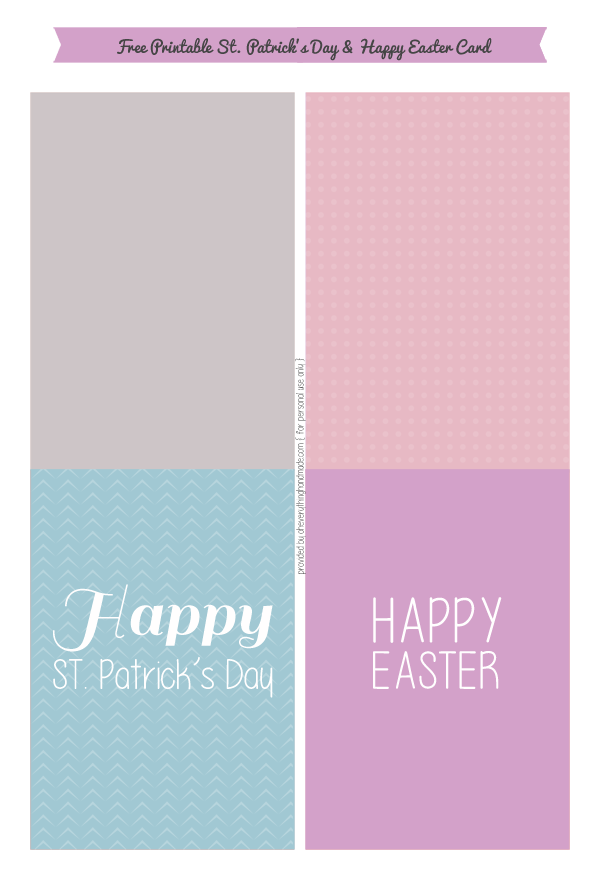 Free Happy St.Patrick's Day and Happy Easter Card