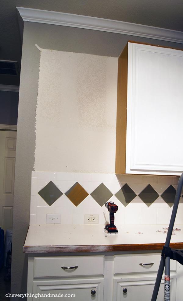 Kitchen Remodel // Removing upper cabinets