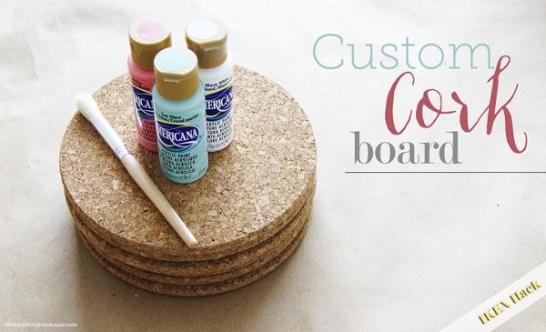 DIY // Custom Cork Board