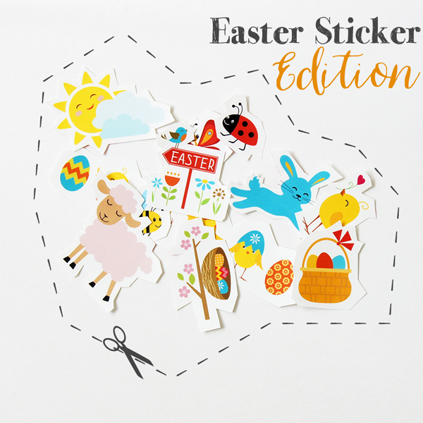 Free Spring - Easter stickers printables