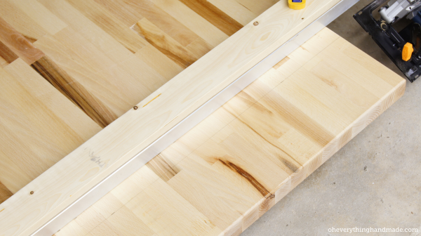 How to cut a butcher block 1