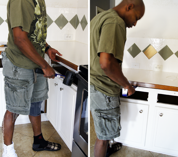 Removing The Old Counter Tops