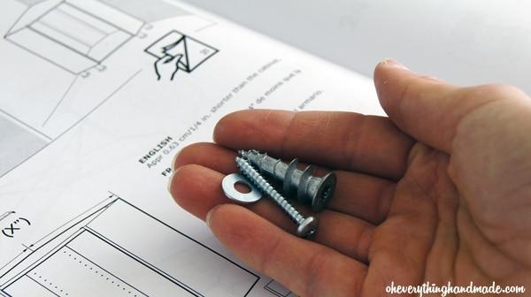 The screws needed