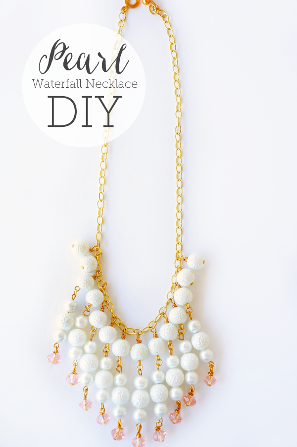 Diy Pearl Waterfall Necklace Via Oheverythinghandmade