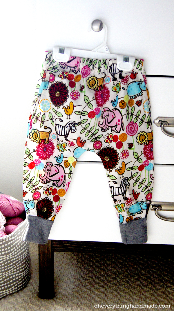 Diy Toddler Harem Pants Via Oheverythinghandmade