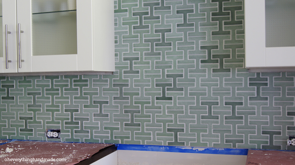 Grouting result after 1h.