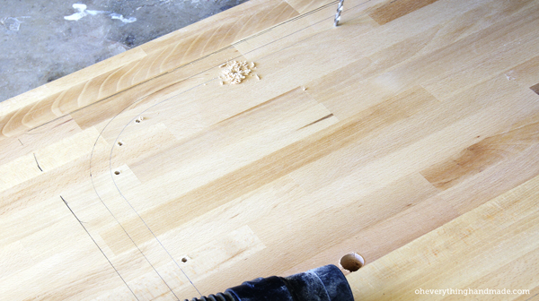 How To Cut A Sink Hole Into Butcher Block