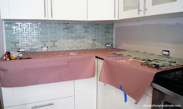Tile installation - progress after 4hours