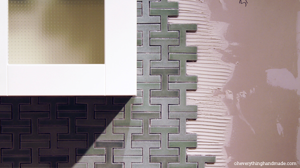 Tile around the stove top
