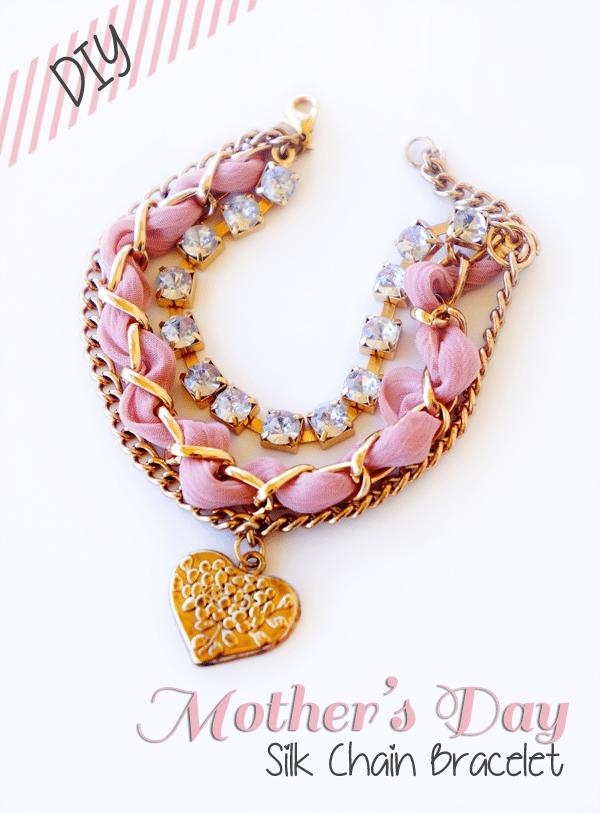 diy mother's day silk chain bracelet
