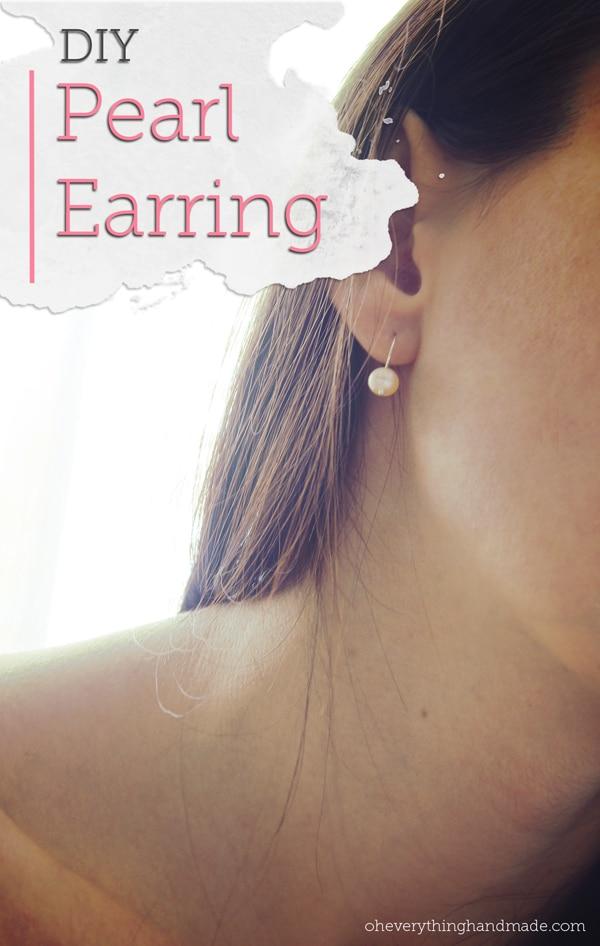 DIY Pear earring under 1 minute