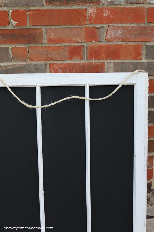 DIY Old Window Frame Chalkboard 01