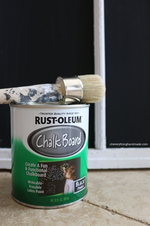 Apply 2-3 coats of Chalkboard paint