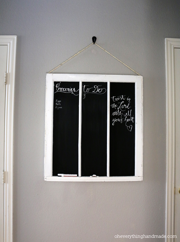 DIY Old Window Frame Chalkboard6