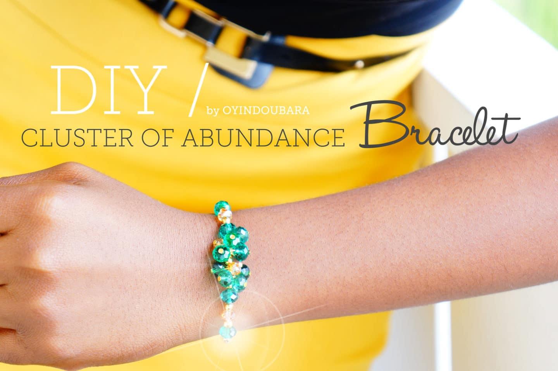 Final Cluster of abundance bracelet by Oyindoubara