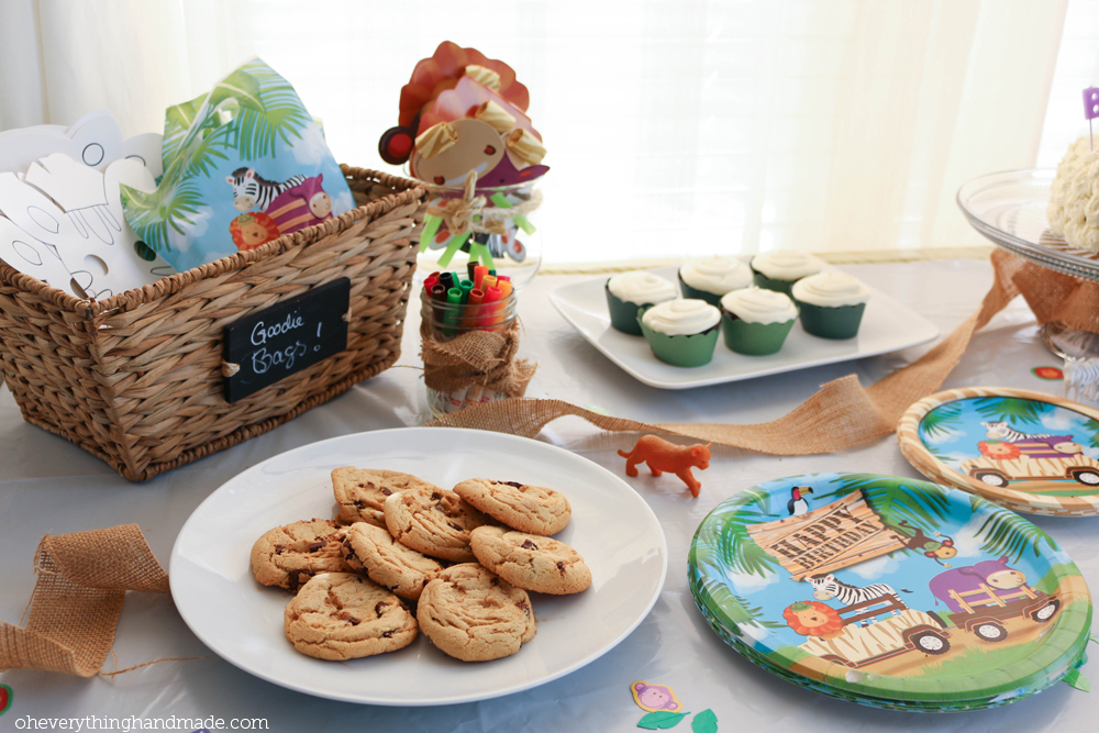 Chocolate Chip Cookies by Bettina Johnson and Goodie Bags by PartyPail
