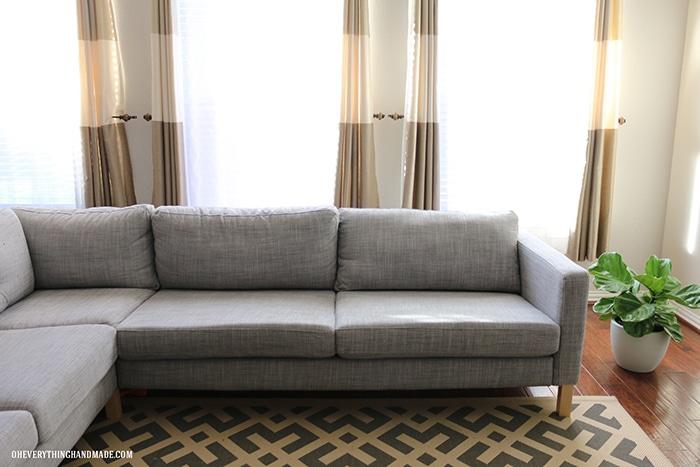 Ikea karlstad cushion makeover - before 1
