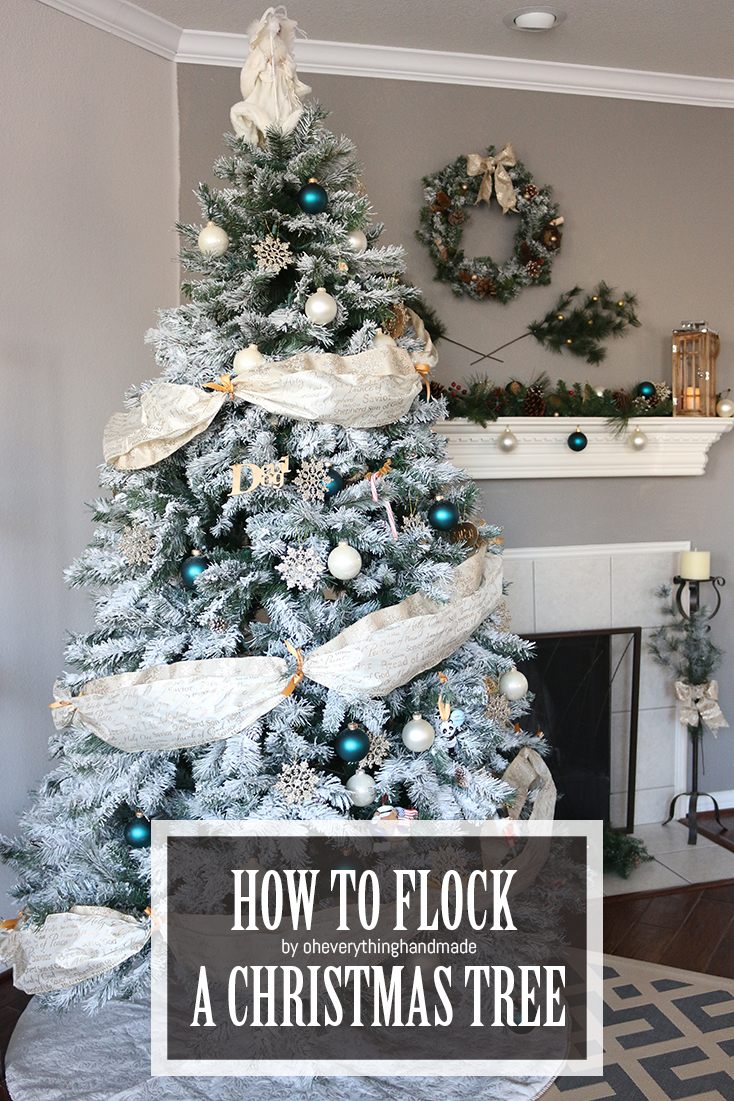 How to Flock a Christmas Tree via Oh Everything Handmade, LLC