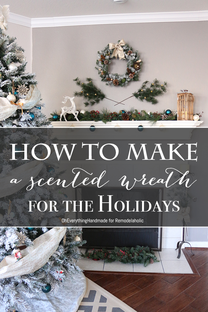 How to make a scented wreath for the holidays700
