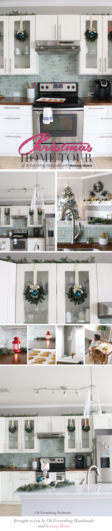 Christmas Home tour by OhEverythingHandmade with KenroyHome Pin