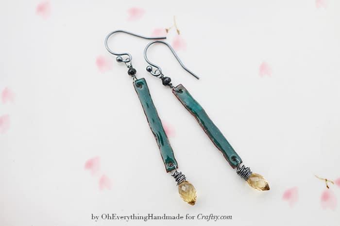 how to make enamel earrings oh everything handmade