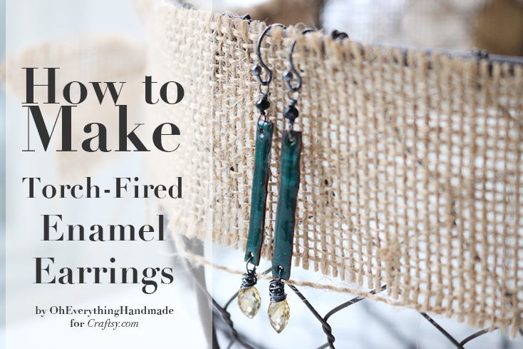 How to make enamel earrings