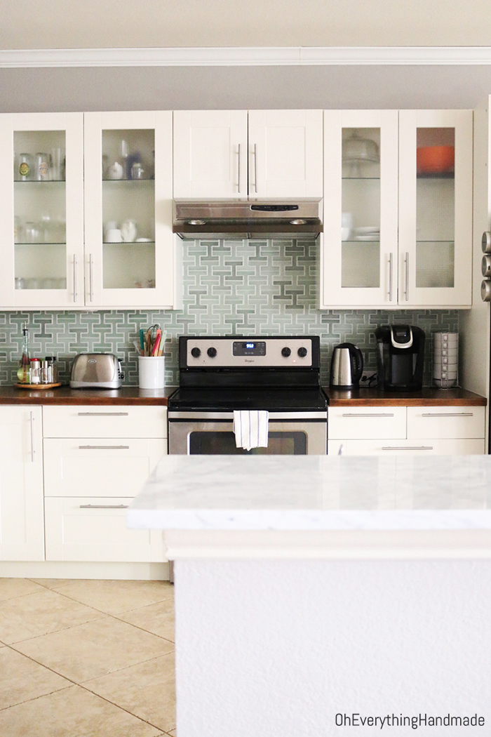 Marble Kitchen Bar Top Makeover by Oheverythinghandmade1